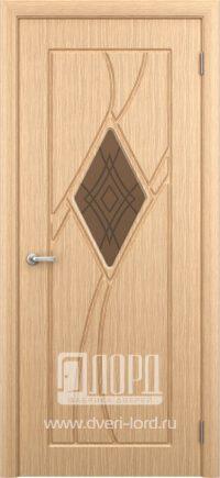 Межкомнатная дверь фабрики Лорд - кристалл остекленный