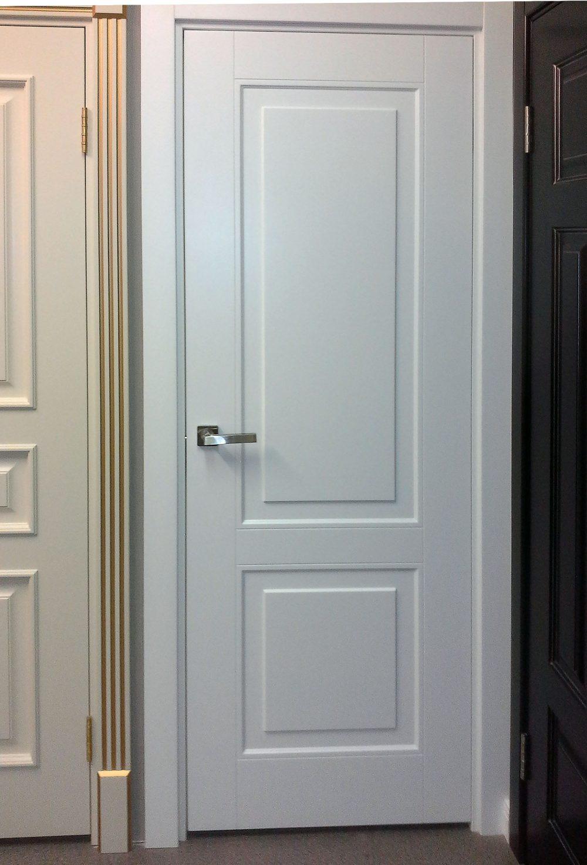 белая дверь эмаль с телескопическими наличниками