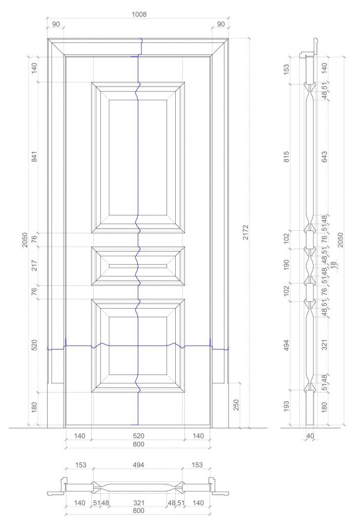 Межкомнатные двери из дерева чертежи и ход работы