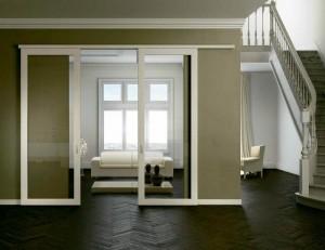 двойная раздвижная дверь 1