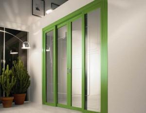 двойная раздвижная дверь