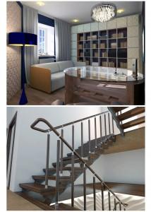 кабинет и лестничный холл