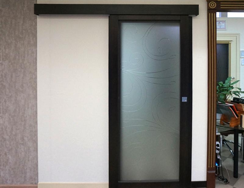 фото раздвижная дверь венге