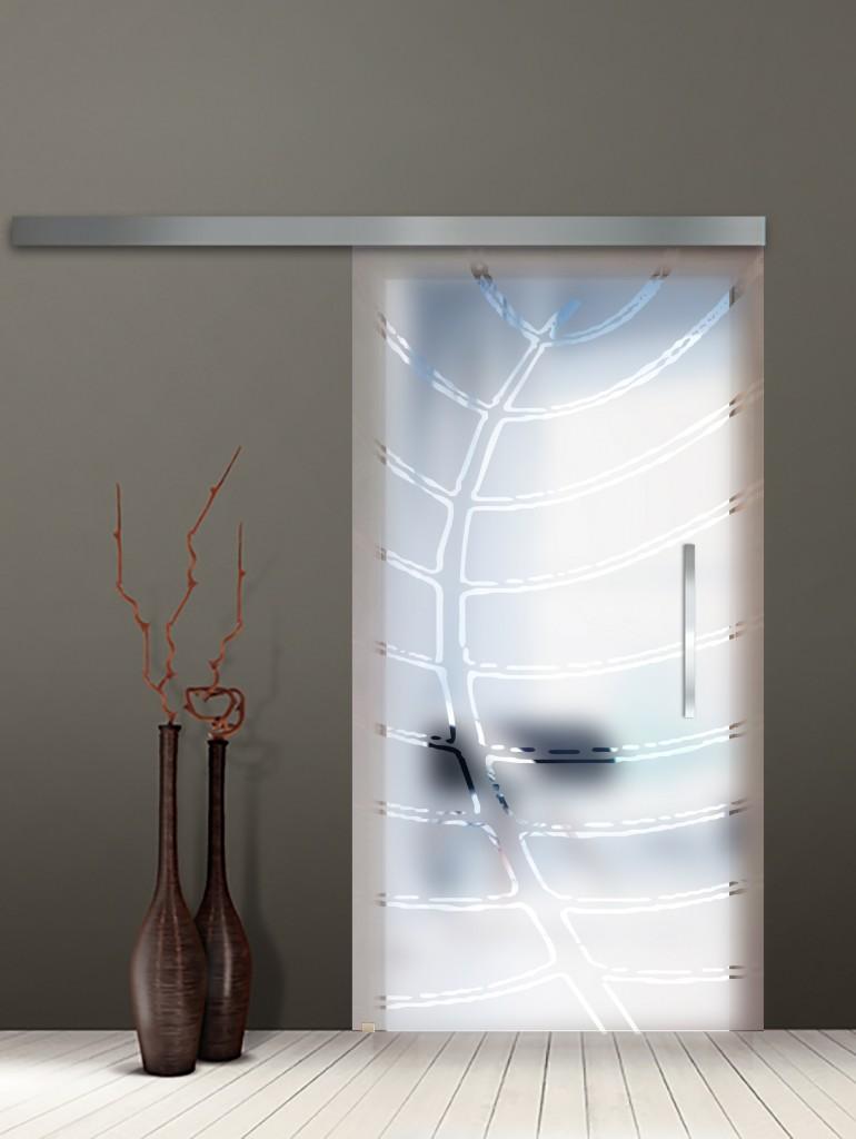 фото стеклянной двери раздвижной