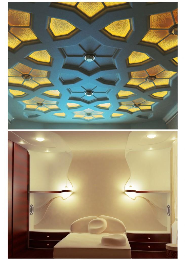 спальная и потолок