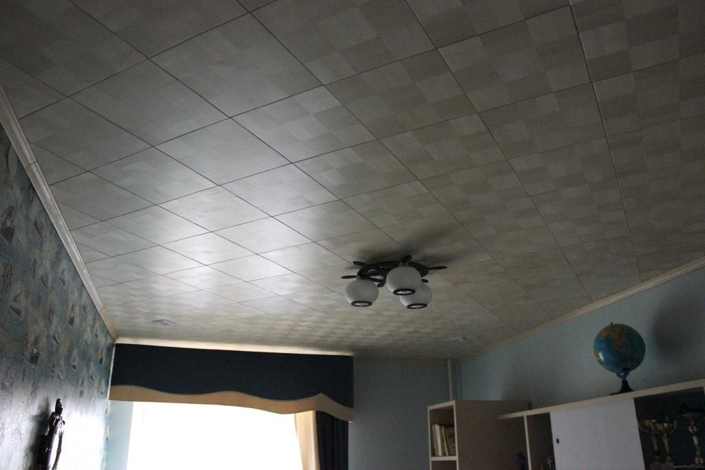 потолок из массива дерева 4