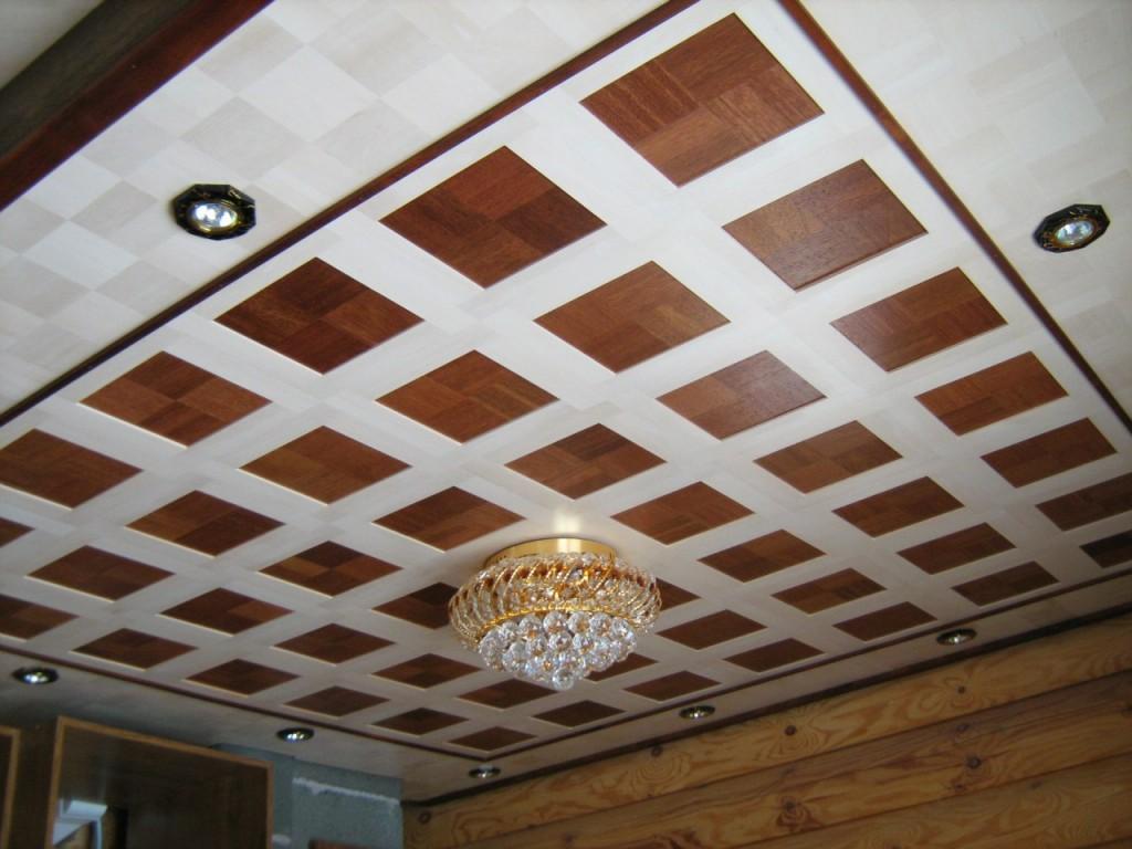потолок из массива дерева1