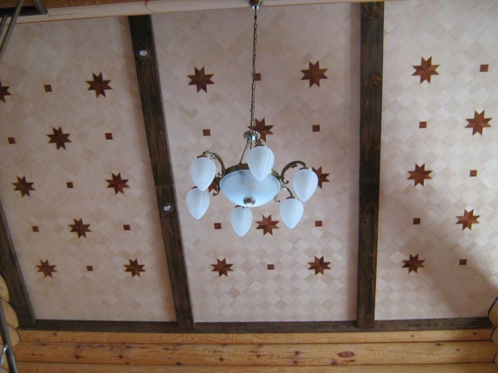 потолок из массива дерева2