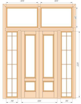 распашная дверь с фрамугой