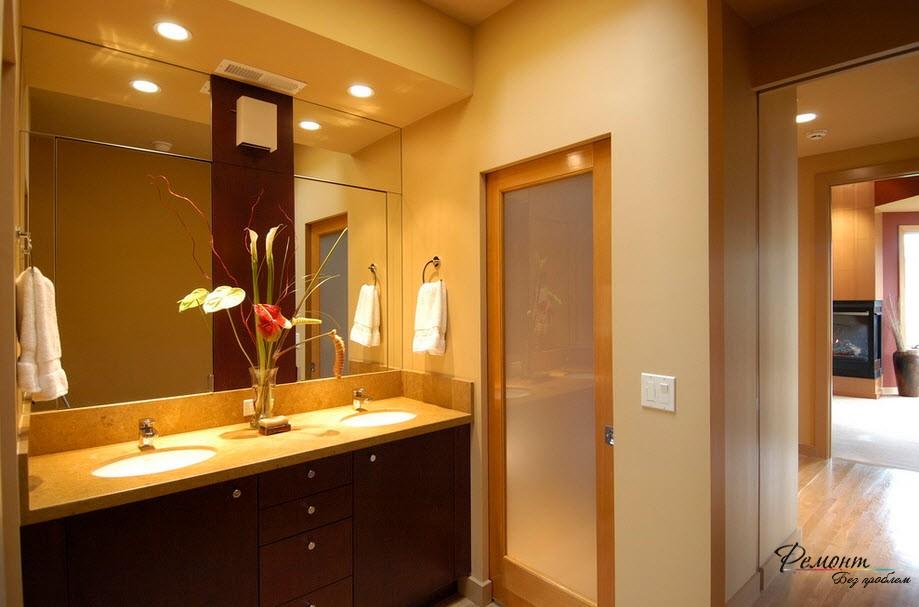 Двери в ванную фото в интерьере