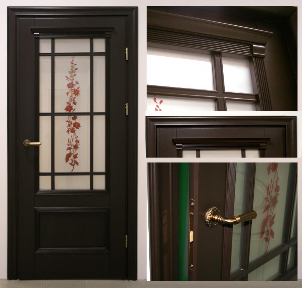 фото дверь венге массив