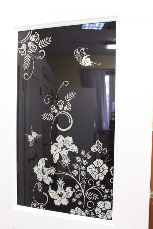 фотопечать на стекле двери