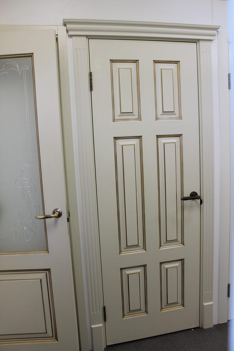дверь слоновая кость 6 филенок фото