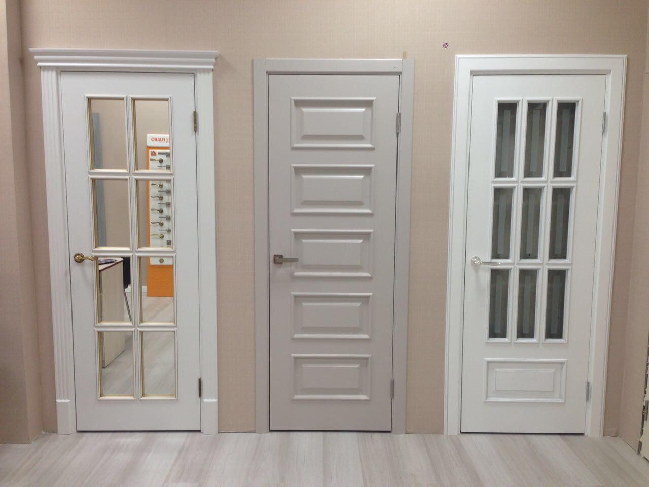 межкомнатные двери белый и серые