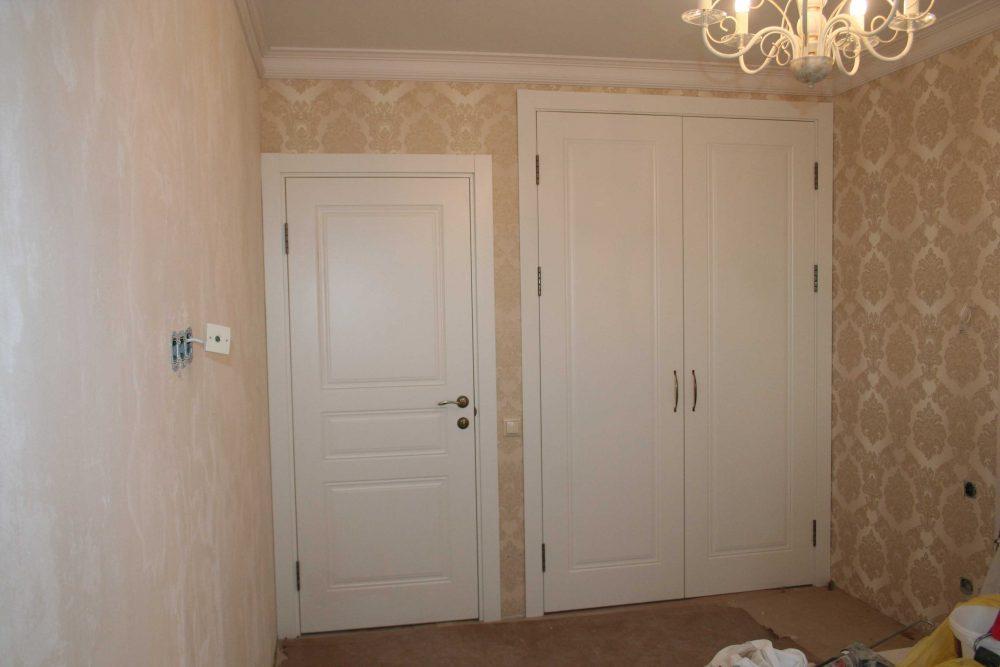 белые двери и шкаф к ним фото в интерьере