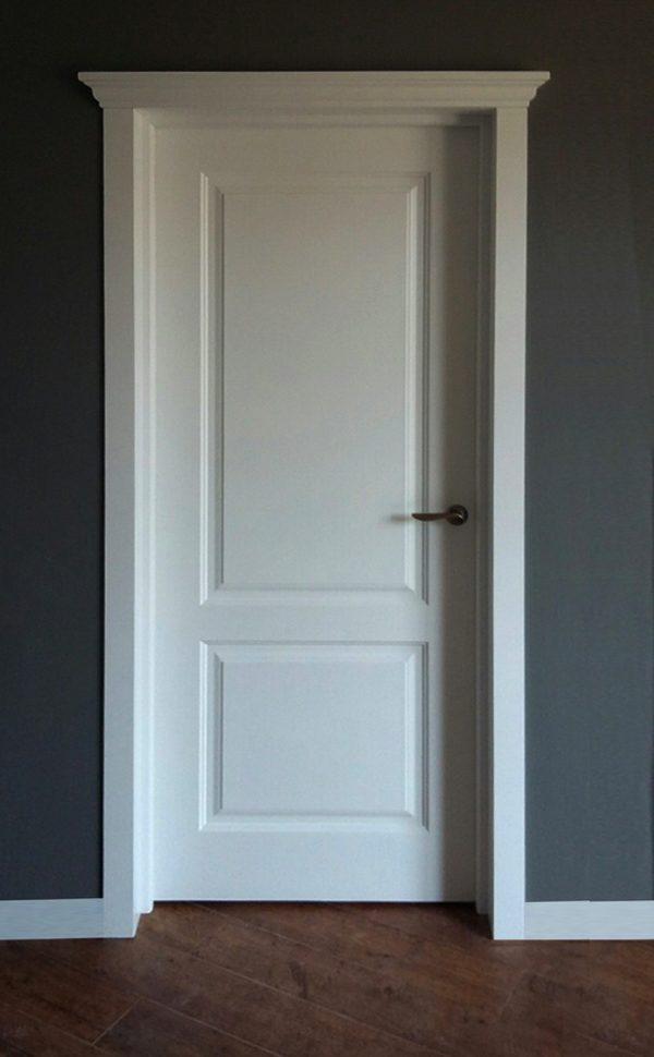 межкомнатная белая дверь классика для скандинавского стиля