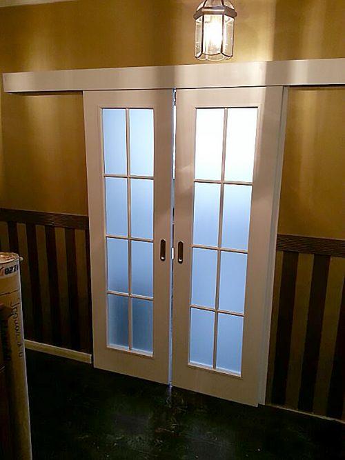 двойные раздвижные двери купе в зал фото