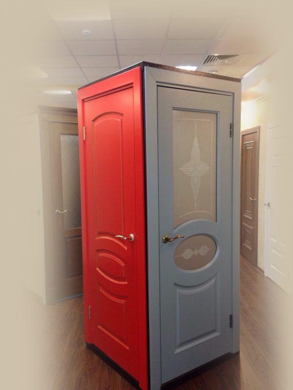 межкомнатные цветные двери фото