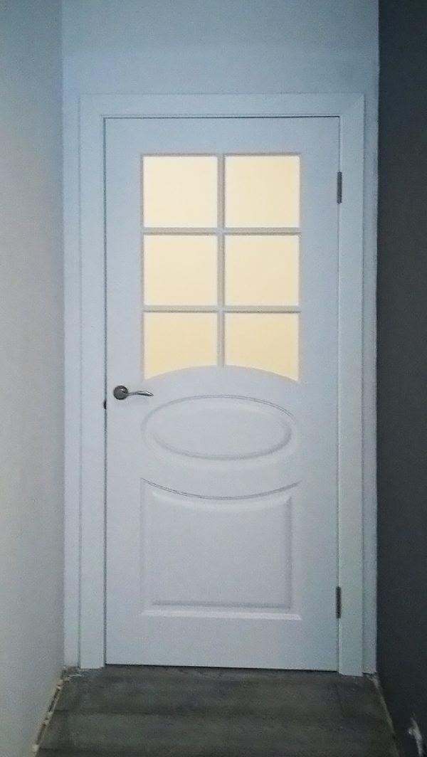 дверь с овалом олимп с решеткой фото