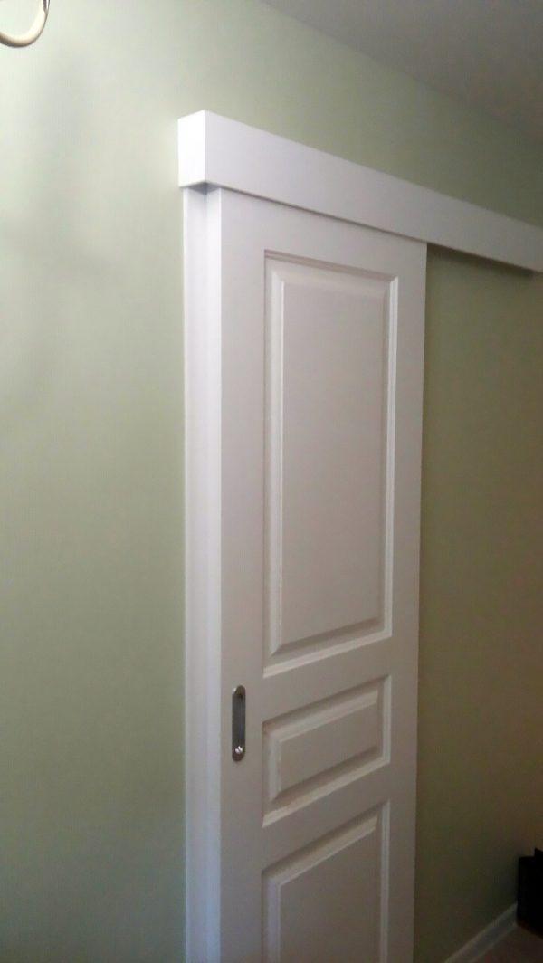 межкомнатная белая дверь раздвижная