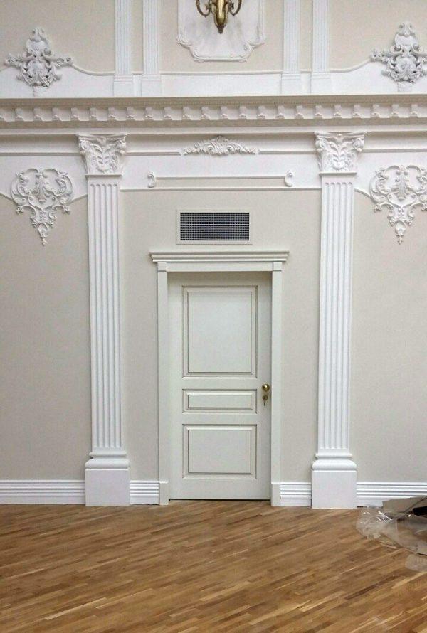 белая межкомнатная классическая дверь фото в интерьере