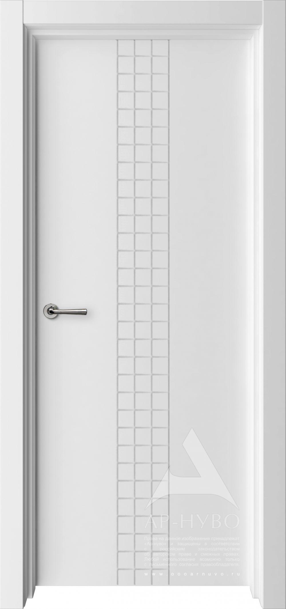 белая дверь с стиле минимализм