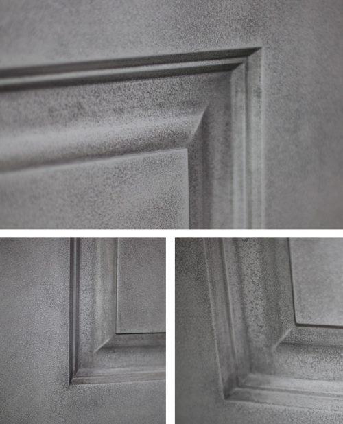 фрагмент двери под бетон