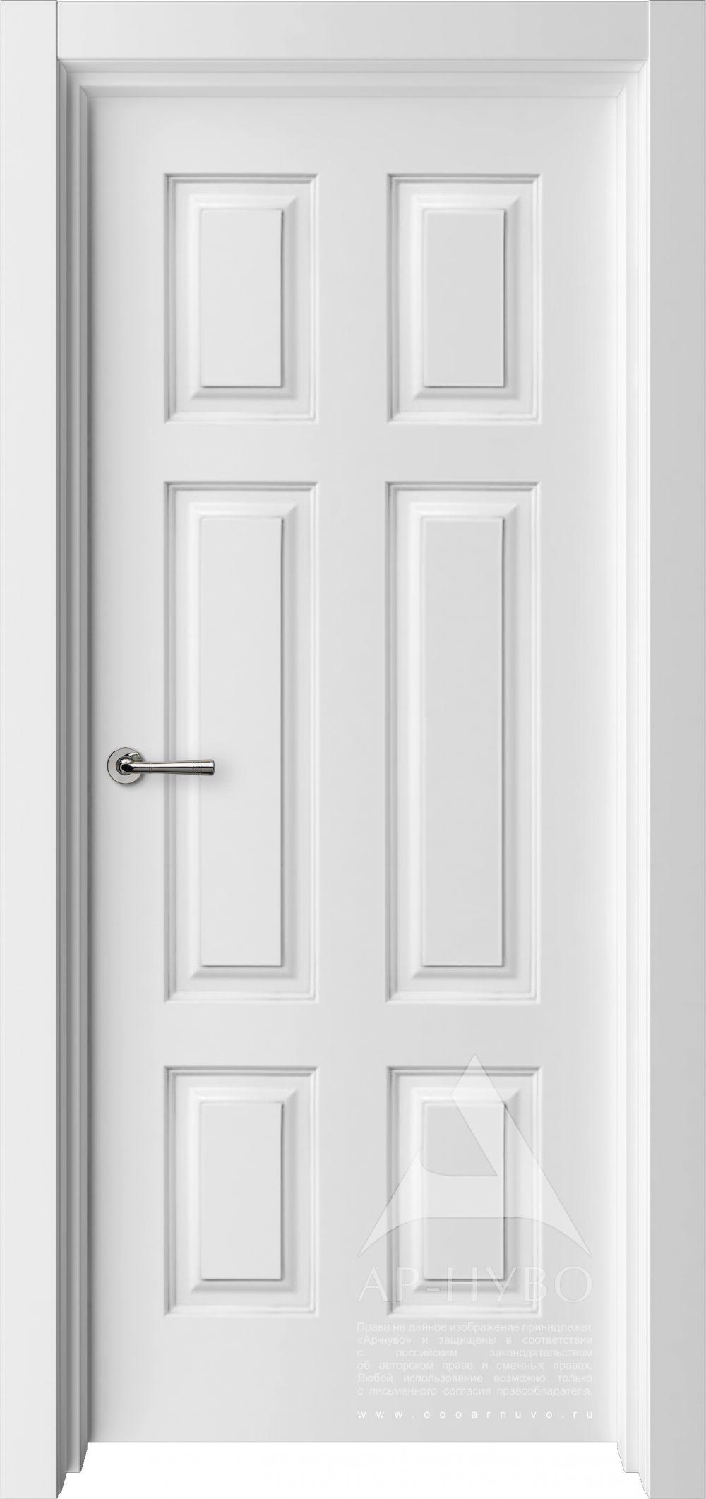 белая дверь 6 филенок