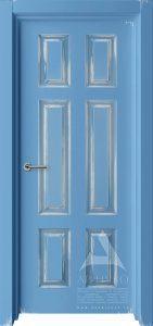 межкомнатная дверь лофтовая синяя