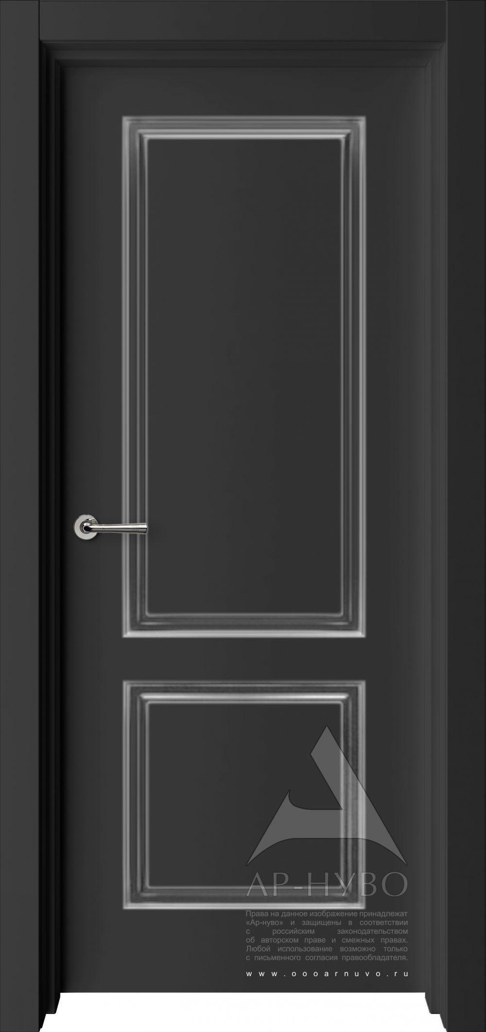 черная классическая межкомнатная дверь