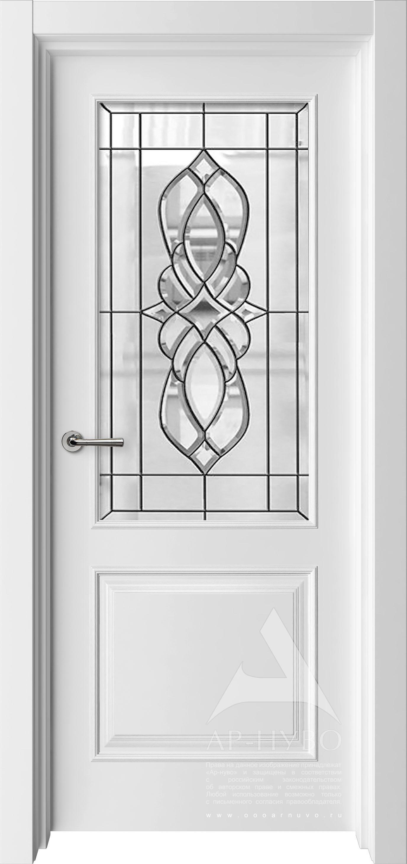 белая межкомнатная дверь со стеклом