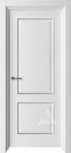 классическая белая межкомнатная дверь с багетом