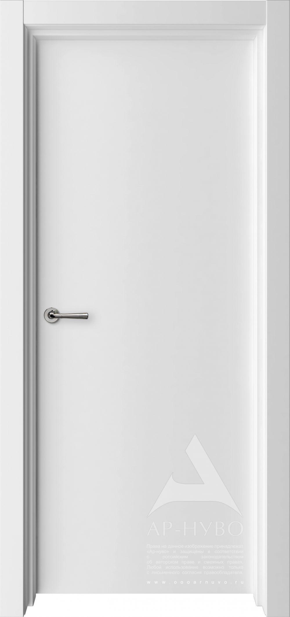 белая межкомнатная дверь без рисунка эмаль
