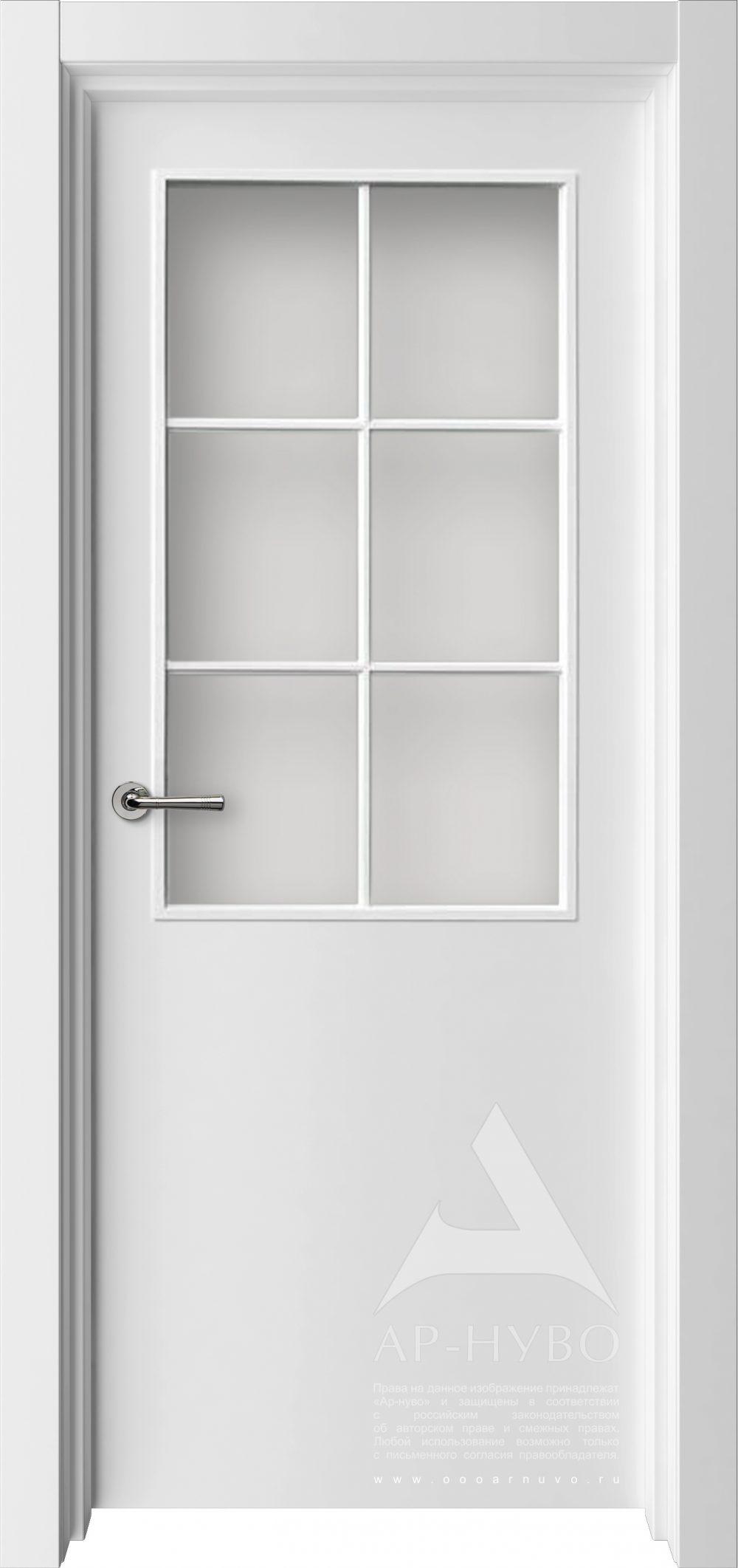 белая межкомнатная дверь ДО 6