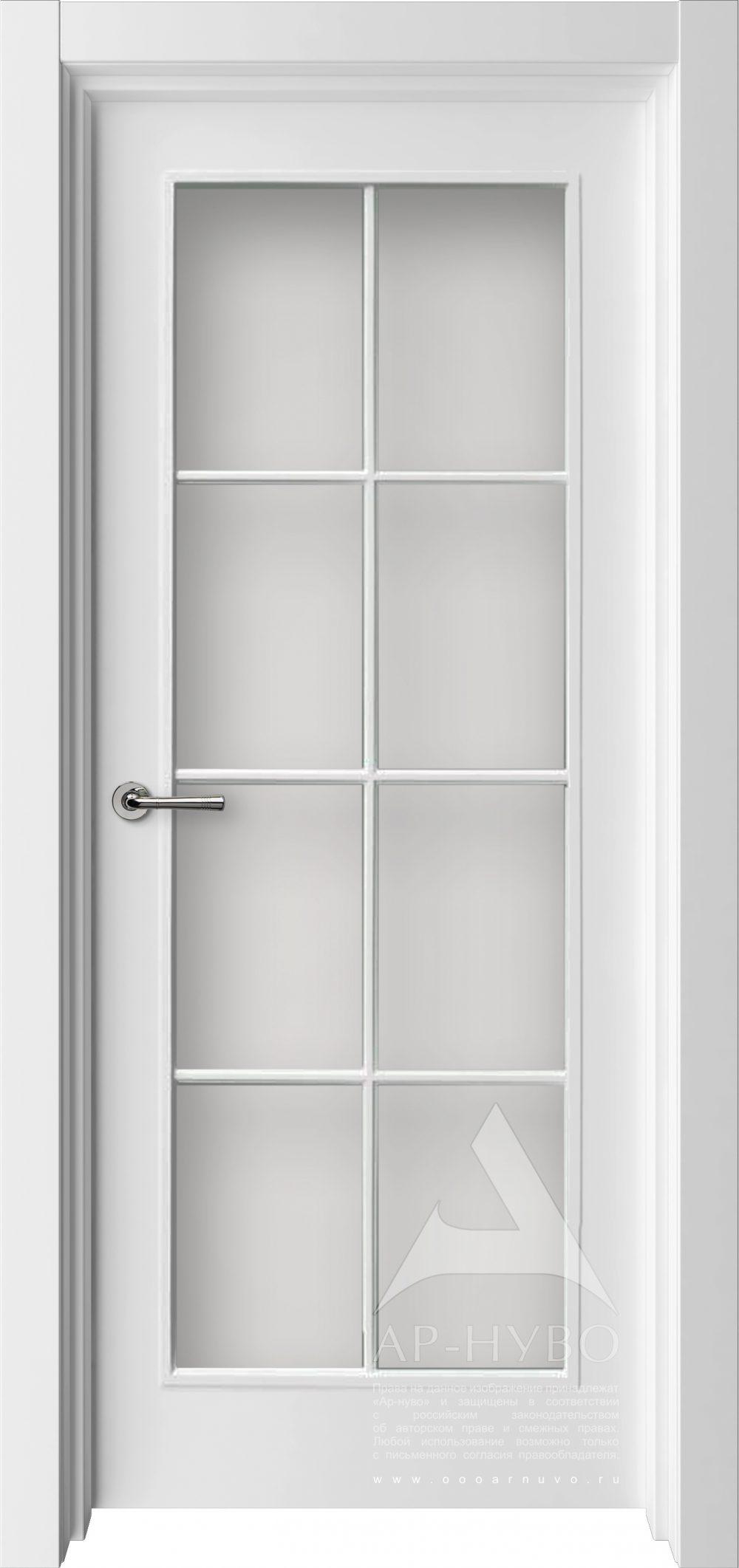 белая межкомнатная дверь французская с решеткой стекло на всю выосту