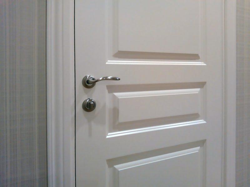 фото в интерьере дверь турин цвет белый
