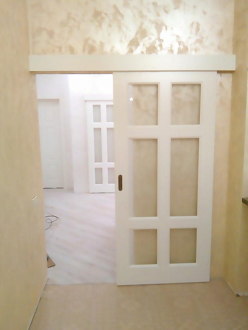 раздвижная дверь на кухню фото