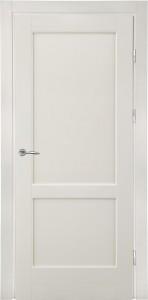 белая дверь массив для скандинавского интерьера