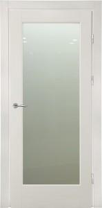 белая дверь со стеклом для скандинавского стиля