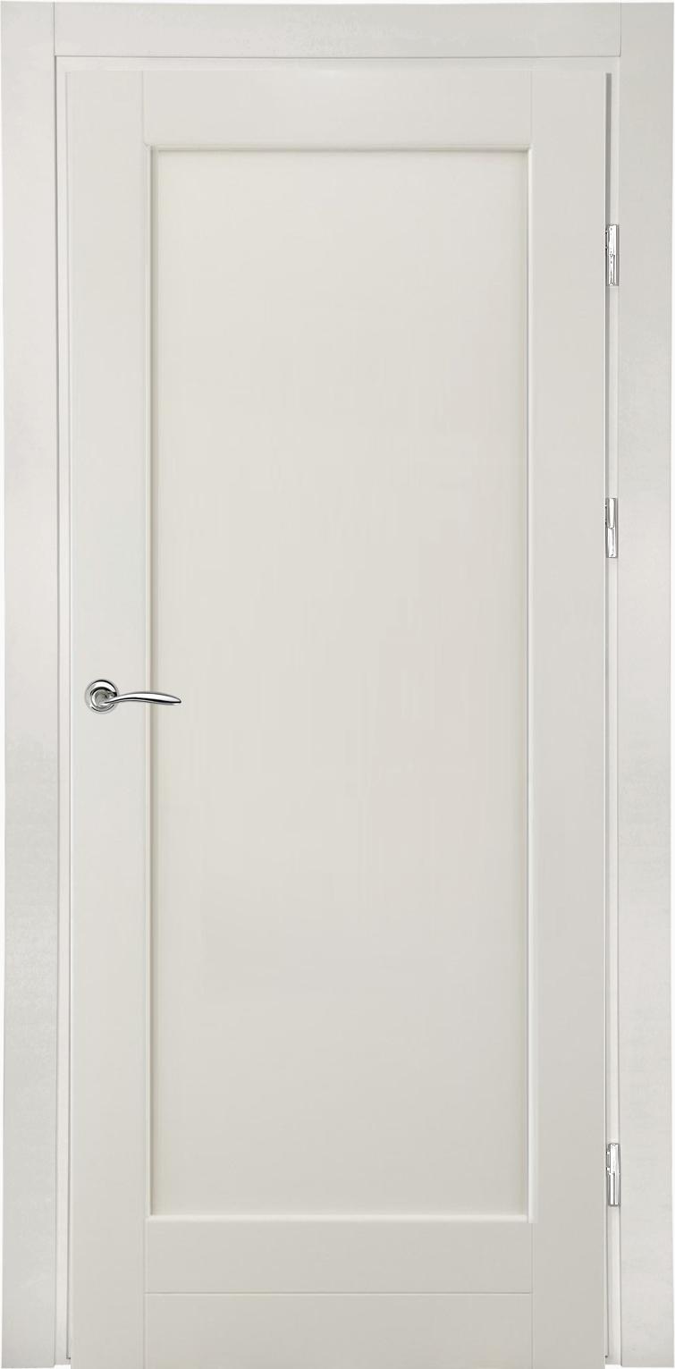 белая дверь из массива для скандинавского стиля