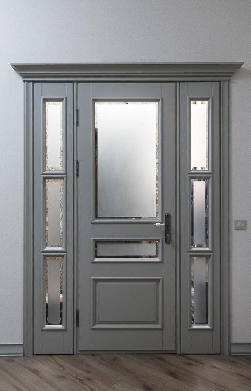 серые классические двойные двери фото
