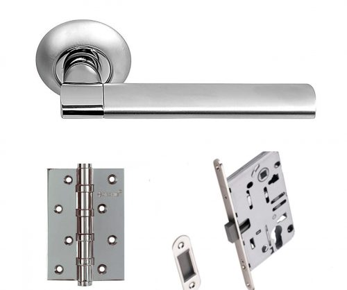 комплект фурнитуры для двери ручкой sillur