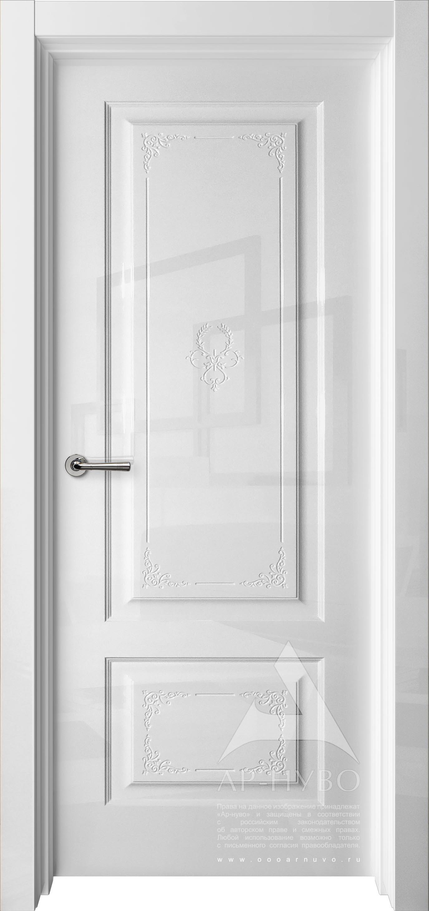 глянцевая дверь с узором