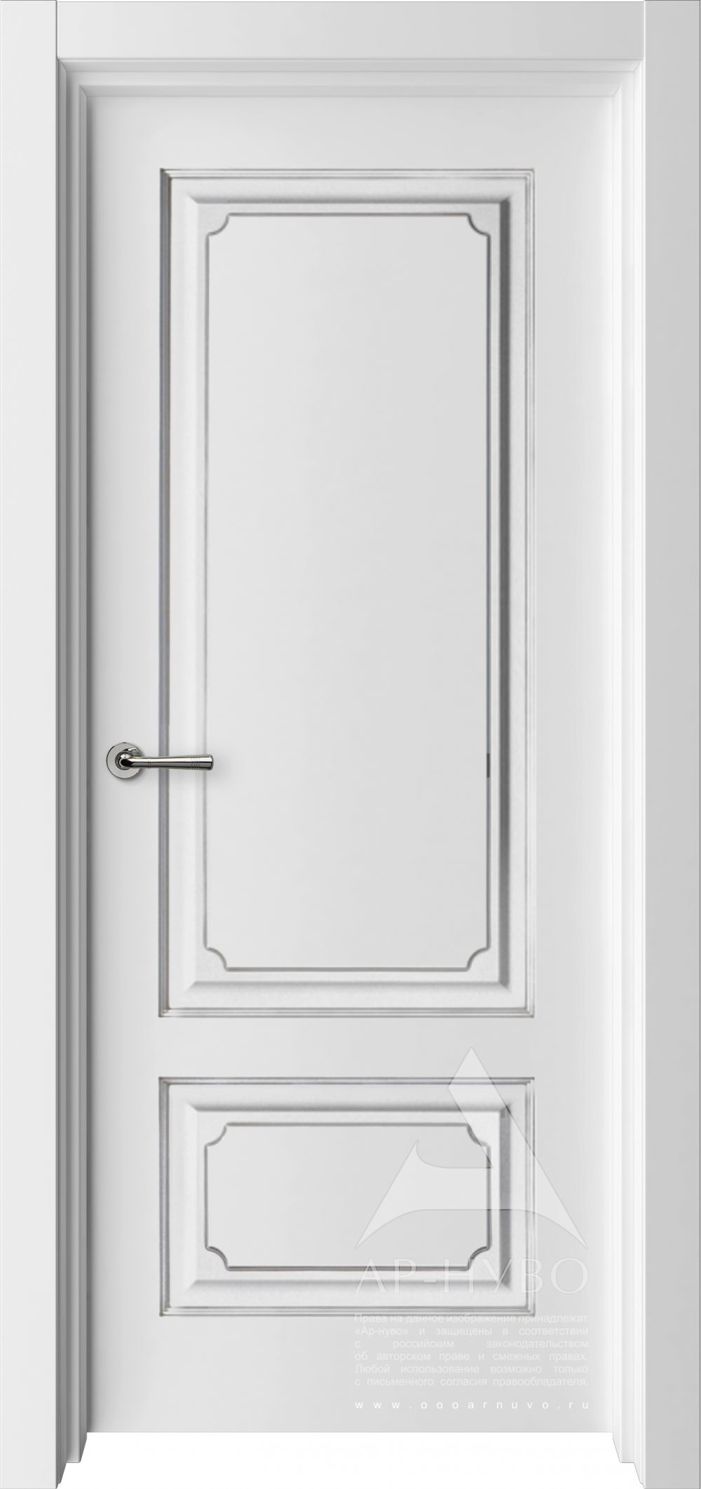 белая межкомнатная дверь Леон