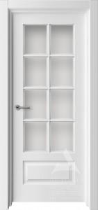 белая межкомнатная дверь со стеклом Мадрид