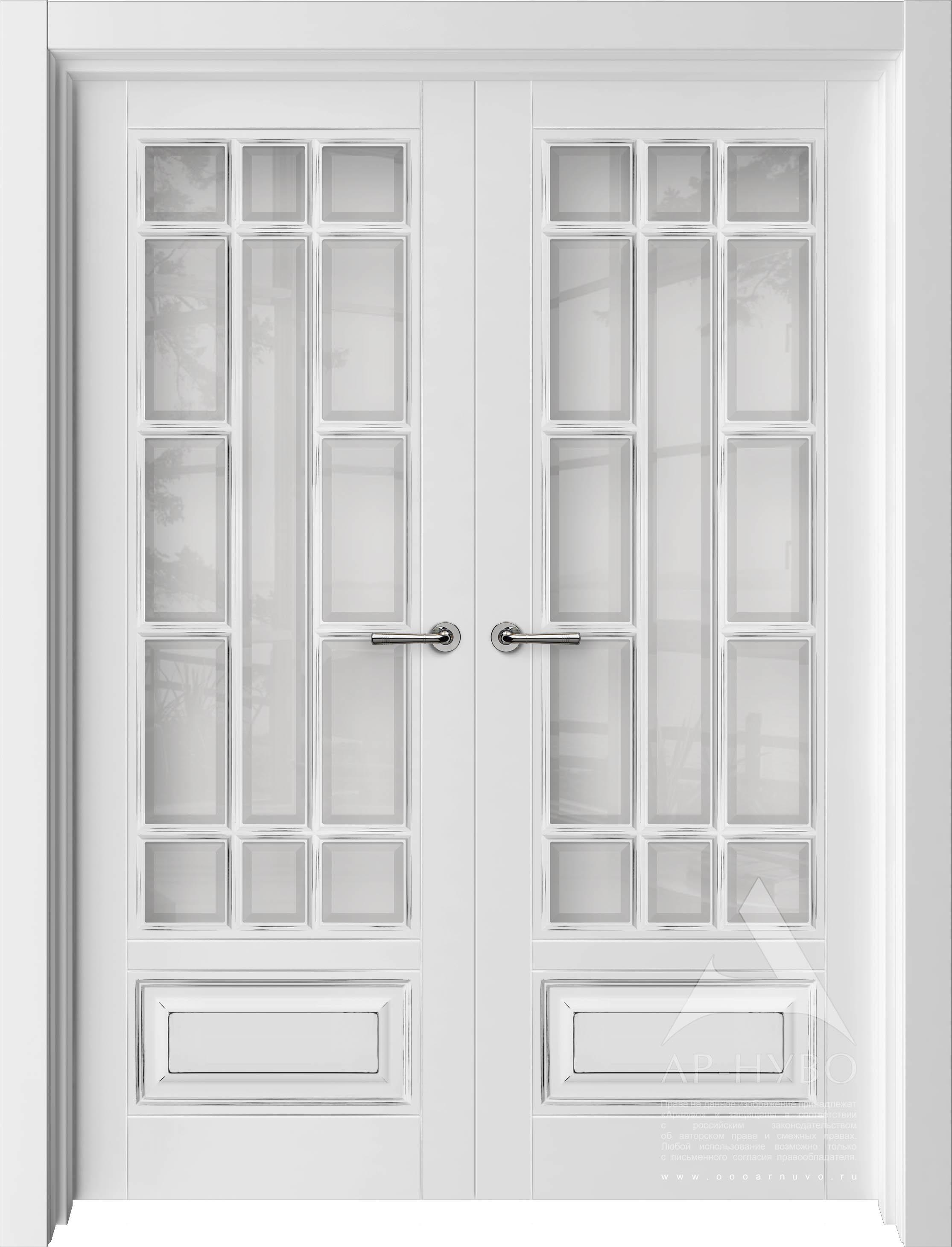 двойная распашная дверь с фацетом