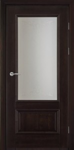 классическая межкомнатная дверь из массива венге
