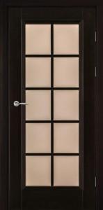 венге дверь из массива с переплетом