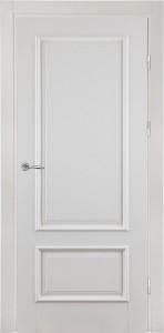 классическая белая дверь из массива с багетом