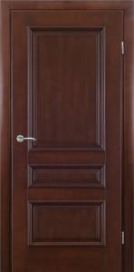 классическая дверь из массива с багетом орех